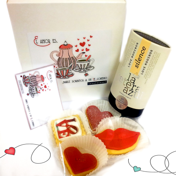 caja regalo san valentín infusiones pharamadus gourmet lateterazul