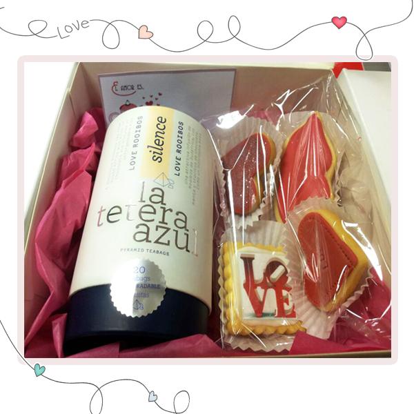 caja san valentín regalo gourmet infusiones pharmadus lateterazul